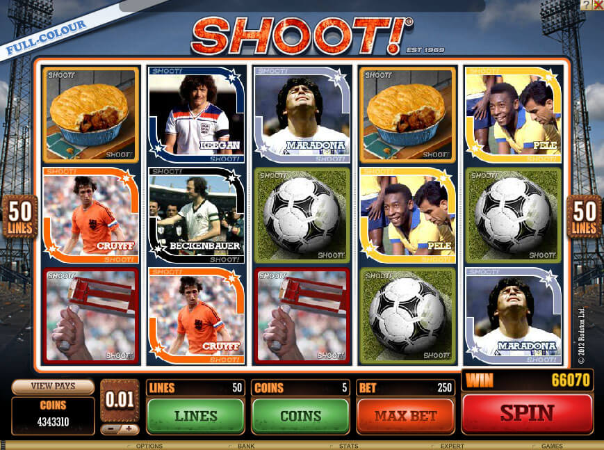Interesting football slots